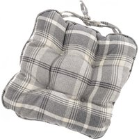Highland Check Cream Seat Pad Grey
