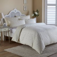 Crochet Jacquard Cream Duvet Cover Cream (Natural)