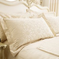 Crochet Jacquard Cream Oxford Pillowcase Cream (Natural)