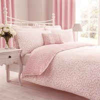 Annie Pink Reversible Duvet Cover and Pillowcase Set Pink