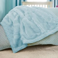 Faux Fur Bedspread Duck Egg Blue