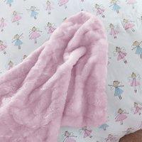Faux Fur Bedspread Pink