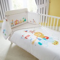 Circus Nursery Coverlet and Bumper White