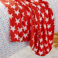 Red Star Knitted Blanket Red