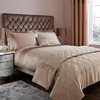 Charleston Embroidered Champagne Duvet Cover Champagne