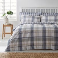 Harrison Blue Reversible Duvet Cover and Pillowcase Set Blue