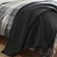 Harvey Charcoal Textured Throw Charcoal