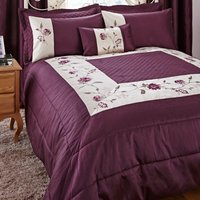 Verity Plum Bedspread Plum (Purple)