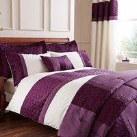 Adalene Embroidered Plum Duvet Cover Plum Purple
