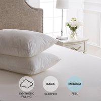 Dorma Sumptuous Down Like Pillow Pair White