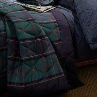 Dorma Lomond Bedspread Navy (Blue)
