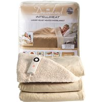 Dreamland Intelliheat Champagne Velvet Heated Overblanket Champagne Natural