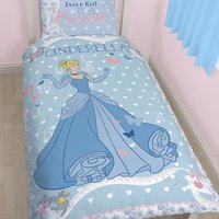 Disney Cinderella Single Duvet Set Blue
