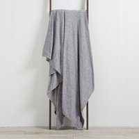 Chenille Grey Throw Grey
