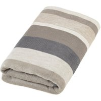 Thermosoft Stripe Grey Blanket Grey