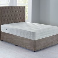 Shenice Sprung Edge Divan Set Grace Taupe (Brown)