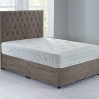 Shenice Platform Top Divan Set With 2 Drawers Grace Taupe (Brown)
