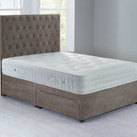 Shenice Sprung Edge Divan Set With 2 Drawers Grace Taupe (Brown)