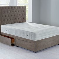 Shenice Platform Top Divan Set With 4 Drawers Grace Taupe (Brown)
