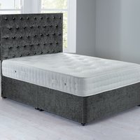 Shenice Platform Top Divan Set Grace Pewter Grey