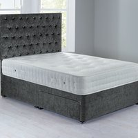 Shenice Sprung Edge Divan Set With 2 Drawers Grace Pewter (Grey)