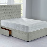 Shenice Sprung Edge Divan Set With 4 Drawers Grace Sky
