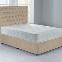 Shenice Sprung Edge Divan Set With 2 Drawers Chenille Shell