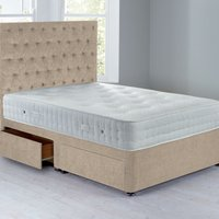 Shenice Platform Top Divan Set With 4 Drawers Chenille Shell
