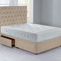 Shenice Sprung Edge Divan Set With 4 Drawers Chenille Shell
