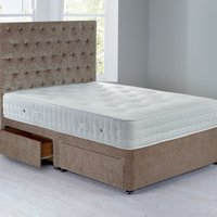 Shenice Sprung Edge Divan Set With 4 Drawers Chenille Mink
