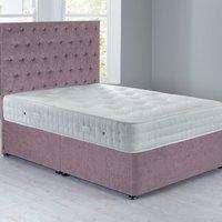 Shenice Platform Top Divan Set Chenille Lavender Purple