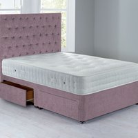 Shenice Platform Top Divan Set With 4 Drawers Chenille Lavender