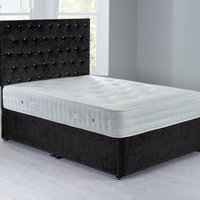 Shenice Platform Top Divan Set Chenille Charcoal Grey