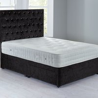 Shenice Platform Top Divan Set With 2 Drawers Chenille Charcoal