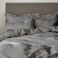 Casual Cotton Charcoal Duvet Cover Charcoal