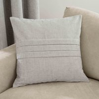 Large Chenille Silver Cushion Silver