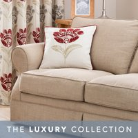 Lucy Claret Cushion Claret (Red)