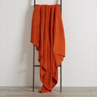 Orange Chunky Breckon Throw Orange