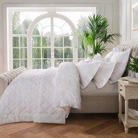 Dorma Fern White Bedspread White