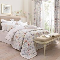 Dorma Wildflower Bedspread White / Purple