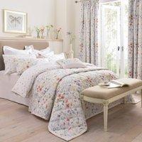 Dorma Wildflower Bedspread White / Purple