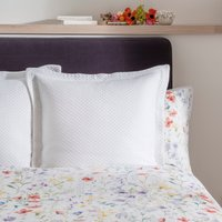 Dorma Wildflower Matalasse Continental Pillowcase White