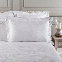 Dorma Fern White Oxford Pillowcase White