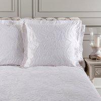 Dorma Fern White Continental Pillowcase White