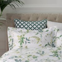 Dorma Botanical Garden Oxford Pillowcase White / Green