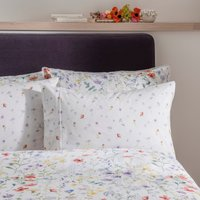 Dorma Wildflower Cuffed Pillowcase White / Purple