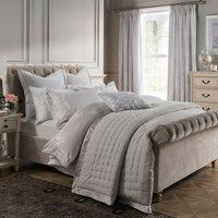Dorma Palais Grey Velvet Bedspread Grey