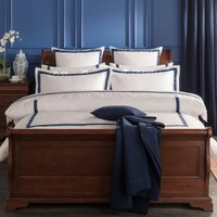 Dorma Maddison 100% Cotton Navy Duvet Cover Navy