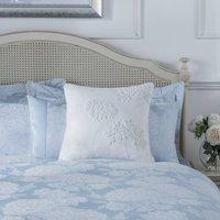 Dorma Hydrangea White Square Cushion White