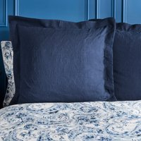 Dorma Vermont Navy Continental Pillowcase Navy